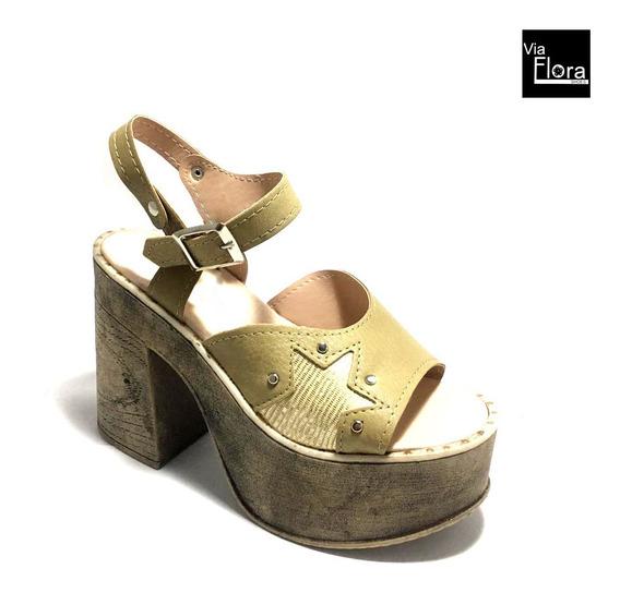 Zapatos De Mujer Sandalias Con Pulsera Taco Alto (tt/708)