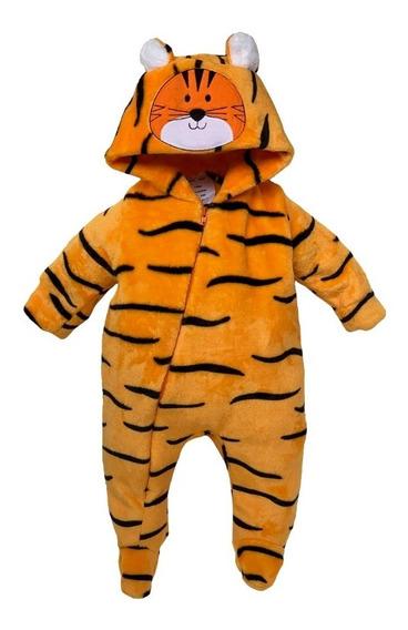 Mameluco Con Gorro Bordado Tigre