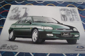 Poster Cartaz Foto Catalogo Ford Escort Verde