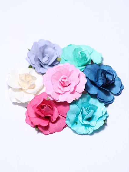 Flores De Papel Sin Cabo X 90 Unidades!