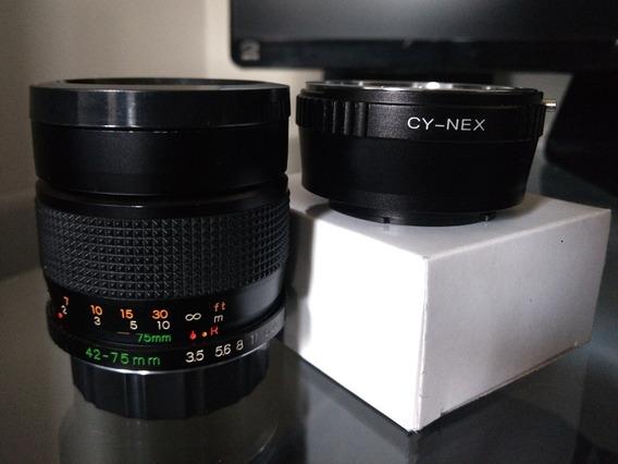 Yashica Ml . 42-75mm F1:3.5-4.5 C Adap Sony Nex
