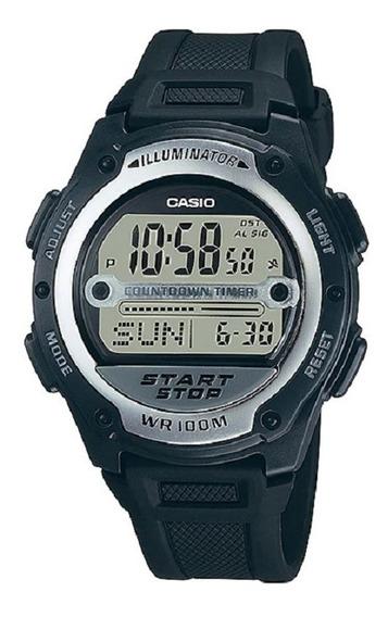 Relógio Casio Masculino Iluminator W-756 1av Preto Digital