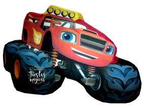 Centro De Mesa Fiesta Blaze Monster Truck