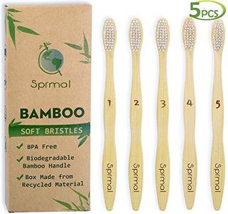 Cepillos De Dientes De Bambú De 5pcs Sprmal Cerdas De Nylon