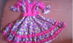 Vestido De Cueca De Mujer Talla (10,12,14