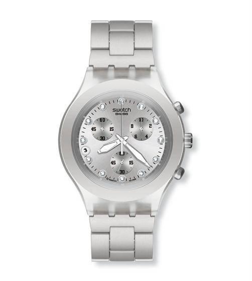 Relógio Swatch Full Blooded Svck4038g Aço Prata Original