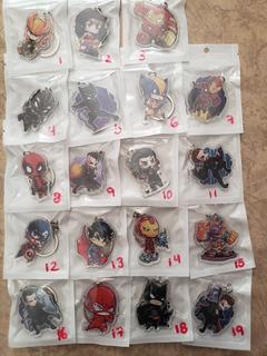 Llaveros Vengadores Dc Comics Avengers Acrilicos Mayoreo
