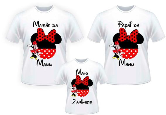 Camiseta Kit Família Minnie - Personalizado