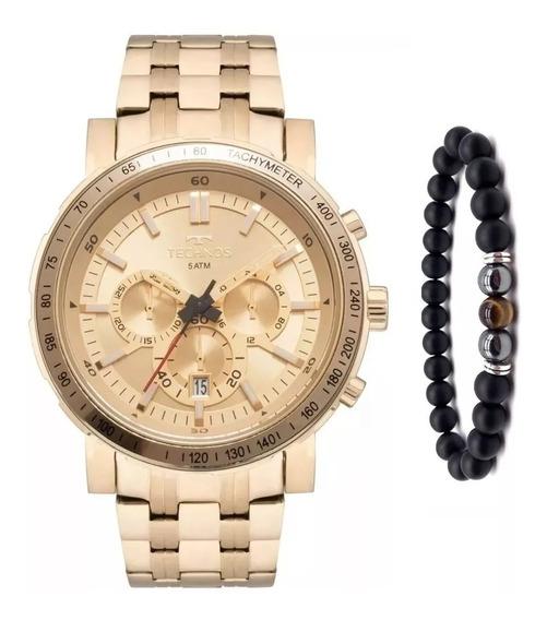 Relógio Technos Masculino Skymaster Js26ak/4x +pulseira Onix