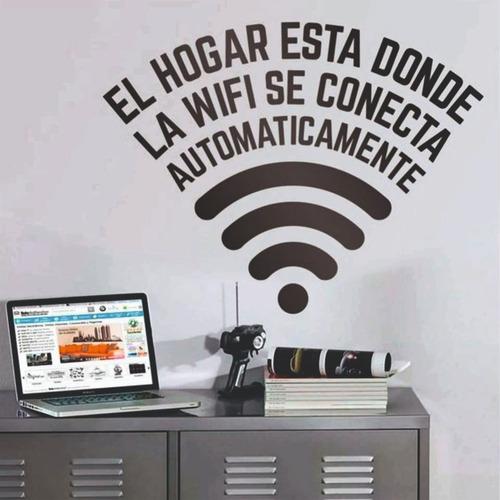 Vinilos Decorativos Frases Pared Vidrio Ventanas Wifi