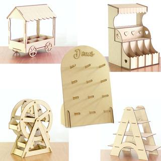Kit #2 Candy Bar Para Mesa De Dulces Cupcakes