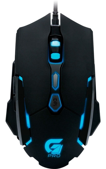 Mouse Gamer Fortrek M1 Rgb 4000dpi Macro Omrom Usb 7 Botões