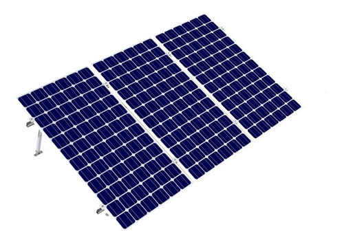 Imagen 1 de 7 de Kit Bases Para 3 Paneles Solares 60 Y 72 De 15 A 30 Grados