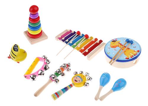 Imagen 1 de 5 de Orff Mundo Educativo De Madera Enseñar Instrumentos