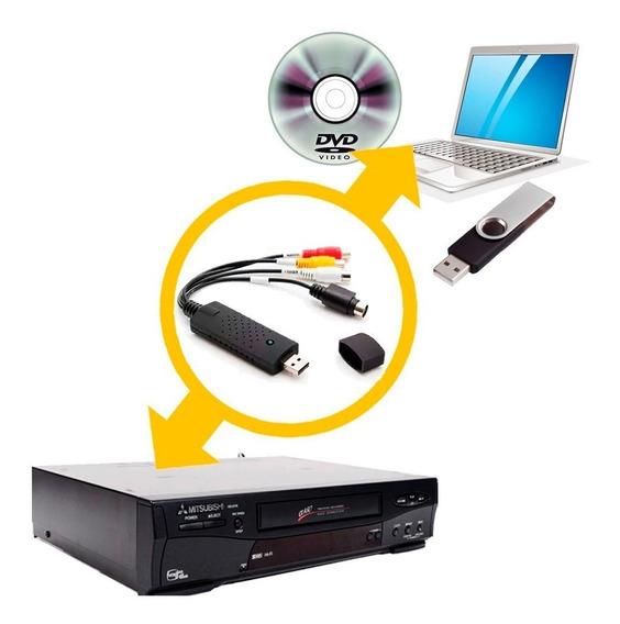 Aparelho Converter Fita De Videocassete Vhs P/ Dvd Digital