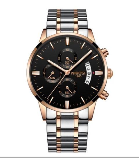 Relógio Masculino Nibosi 2309 Original Luxo Anti_riscos