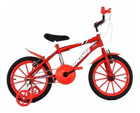 Bicicleta Aro 16 Infantil Masculina Feminino+adesivo Brinde