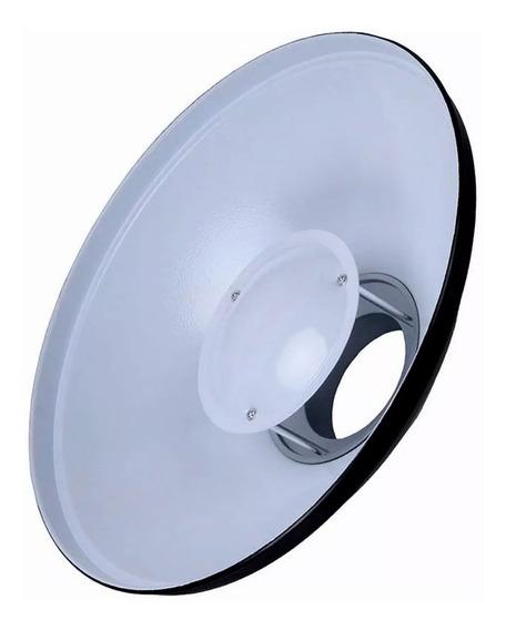 Refletor Beauty Dish Flash Tecido Difusor 420mm Bowens