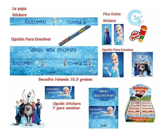 Kit Imprimible Frozen Disney Candy Golosinas Editable