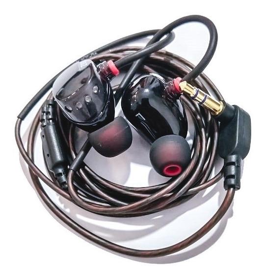 Fone In Ear Profissional Para Monitor De Palco Dual Driver