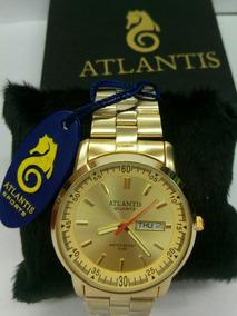 Relogio Unissex Atlantis Resiste A Água 50m Promoção Orig.