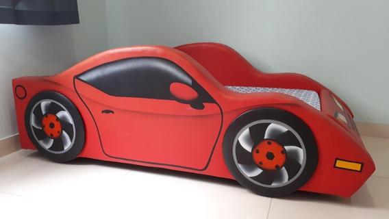 Cama Carro Infantil Modelo Ferrari - Completa Com Colchao