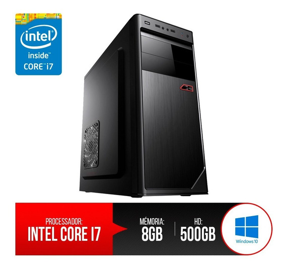 Pc Intel Core I7,8gb Ram Ddr3, Hd 500gb 12 X Sem Juros!+nf