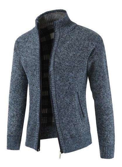 Suéter Cardigan De Punto Grueso Para Hombre