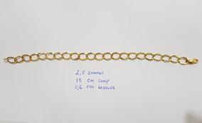 Pulseira Ouro 18k Com 2.5 Gr