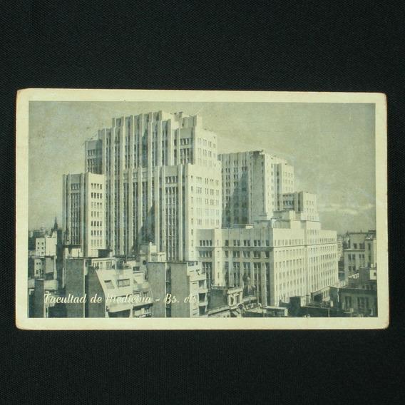 Cartão Postal Com A Faculdade De Medicina De Buenos Aires