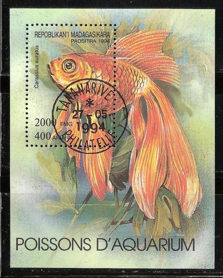 Madagascar - Hoja Souvenir - Carpa Dorada - 1994