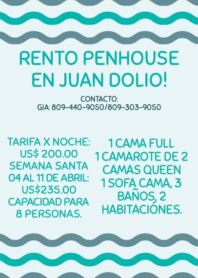 Rento Hermoso Penhouse En Juan Dolio
