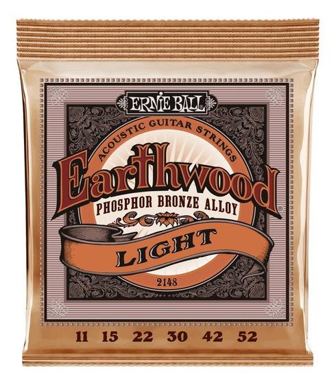 Encordoamento Ernie Ball Earthwood Phosphor Violão Aço 011