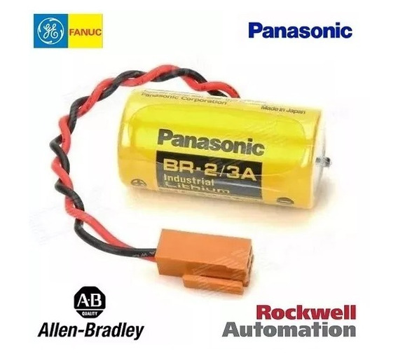 Bateria Ge Fanuc Clp Plc Cnc Br2/3a 3v Lithium Panasonic