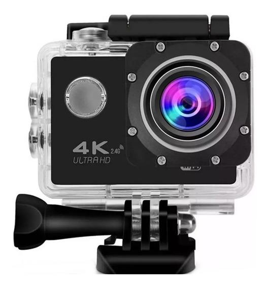 Acition Filmadora Câmera Full Hd 4k Capacete Wifi Mergulho Moto Bike Trilha