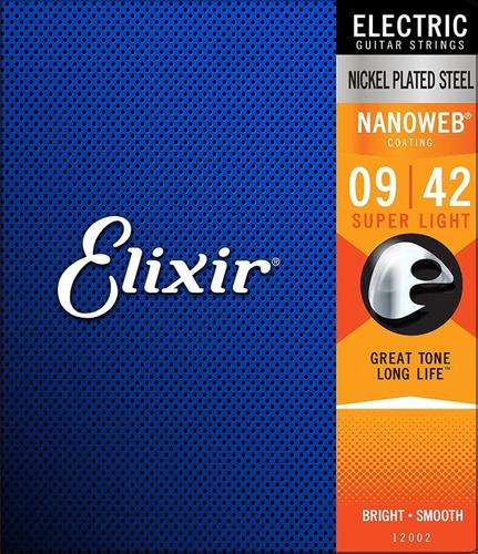 Encordado Elixir 12002 Nickel Steel Nanoweb S Light 009-042