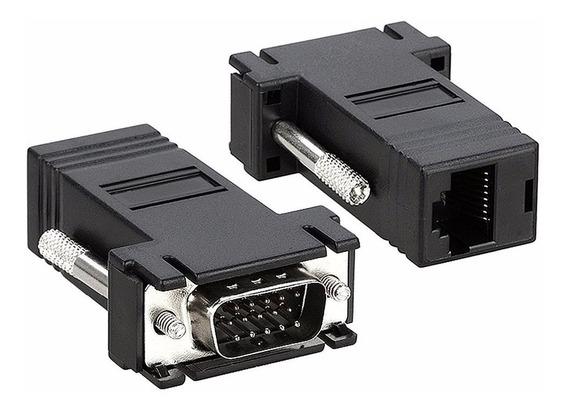 Adaptador Convertidor Vga A Rj45 Extension Cable Red Utp Par
