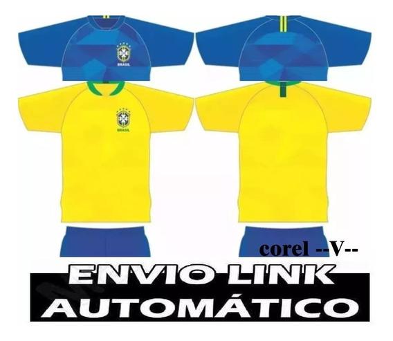 Estampa Camisa Brasil Copa 2018 Vetor Coreldraw - Imediato