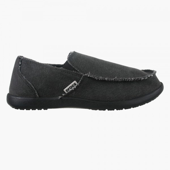 Pancha Mocasin Crocs Santa Cruz Men Negro Envio Caba Y Bs As