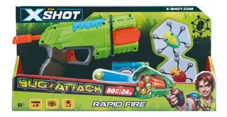 Pistola Lanza Dardos Tambor X-shot 17 Mts 8 Dardos 2 Bichos