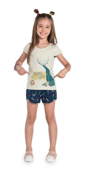 Conjunto Infantil Blusa Feminino Rovitex Kids