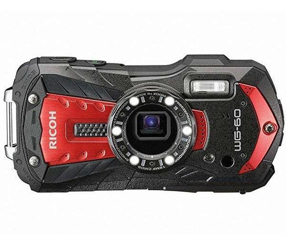 Camara Ricoh Wg-60 Red Waterproof 16mp High Resolution Ima ®