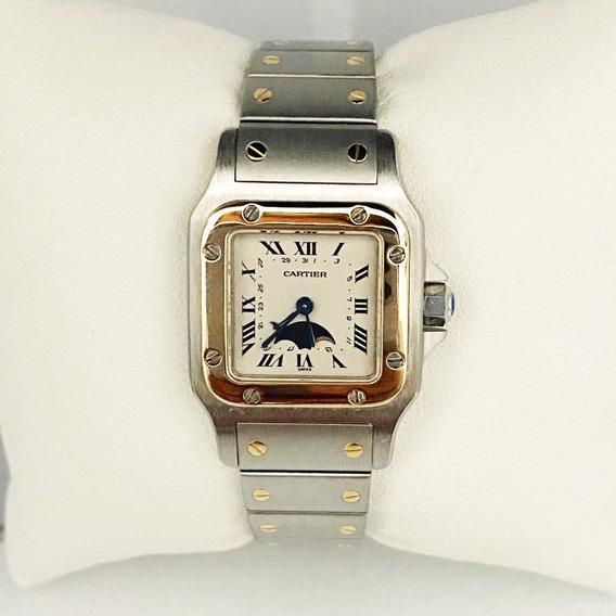 Reloj Dama Santos De Cartier Fase Lunar Original