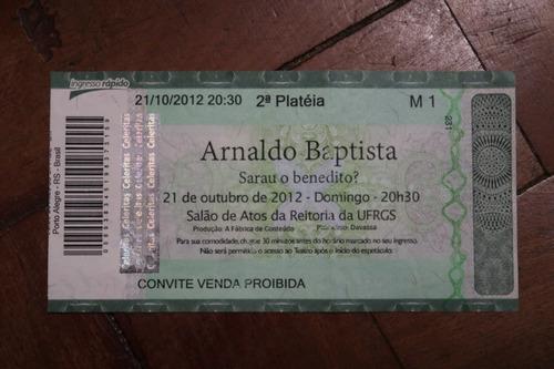 Ingresso Arnaldo Batista Salão De Atos Da Ufrgs 2012