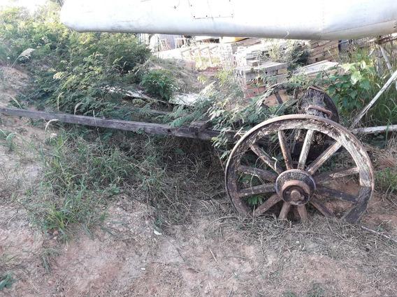 Roda/carro De Boi Antigo