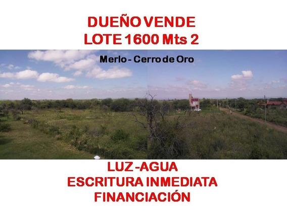 Venta Lote Merlo San Luis Cerro De Oro 1610 Mts2
