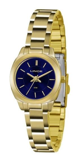 Relógio Lince Feminino Dourado Lrg4436l D1kx Pequeno Classic