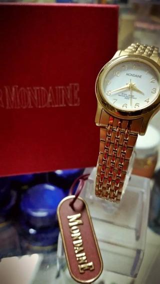 Relogio Mondaine Dourado - Waterproof