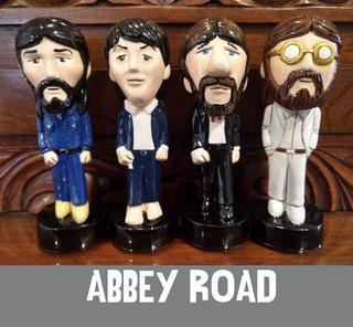 Figuras The Beatles Abbey Road Cerámica Originales