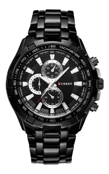 Relógio Masculino Aço Inox Preto